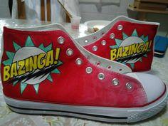 Bazinga! Sheldon Cooper TBBT Handpainted Shoes