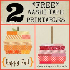 Free Washi Tape FALL Printables