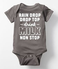 Loving this Charcoal 'Drink Milk' Bodysuit - Infant on #zulily! #zulilyfinds