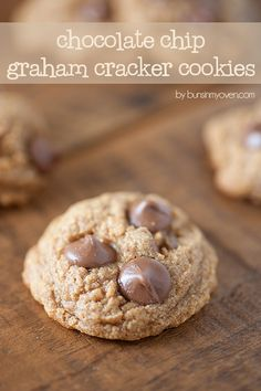 Chocolate Chip Graham Cracker Cookies - a cracker cookie? Yep, and it's delicious! Though mine don't quite look like those...