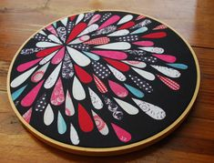 Embroidery Hoop Art  Printed Fabric Art  Wall by JenniferJohansson, $25.00