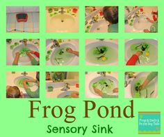 Frog Pond {Sensory Sink}