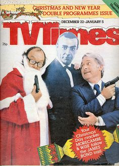 TV Times featuring Morecambe & Wise (taking the piss out of John Eric Bartholomew, OBE known by his stage name 'Eric Morecambe', and Ernest Wiseman, OBE known by his stage name 'Ernie Wise' Christmas Cover, Christmas Past, Christmas Comics, Vintage Christmas, 1970s Tv Shows, English Christmas, Morecambe, Old Time Radio, British Comedy
