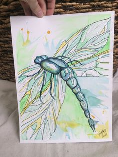 Dragonfly Watercolor by TandFArtistry on Etsy