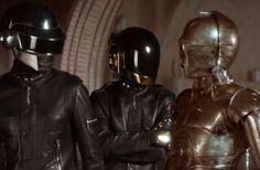 Daft Punk meets Threepio. #StarWars