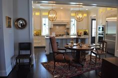 Design by Project 1 in Richmond, Va. I like the floating dining table.