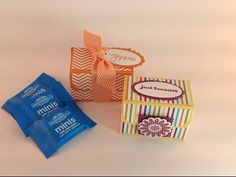 Mini Ghirardelli Treat Box.                    You can check out the video on stampingwithamore.com