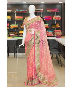 Buy Latest Model Designer 4D Net Sarees From Siri Collections.