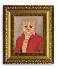 Renaissance Tabby Framed Canvas. Looks like my Layla