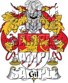 Gil Family Crest apparel, Gil Coat of Arms gifts