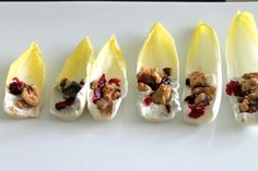 Endive with Goat Cheese, Craisins and Spiced Walnuts
