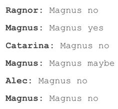 Alec's words is the law