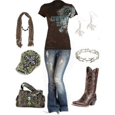 A fashion look from February 2013 featuring Ariat boots, Dorothy Perkins necklaces and House of Harlow 1960 bracelets. Browse and shop related looks.