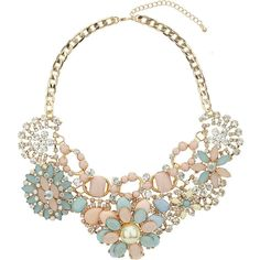 TOPSHOP Premium Pastel Flower Necklace (6.620 RUB) ❤ liked on Polyvore featuring jewelry, necklaces, accessories, daisy cleveland, multi, flower jewellery, flower necklace, daisy necklace, blossom necklace and topshop necklace