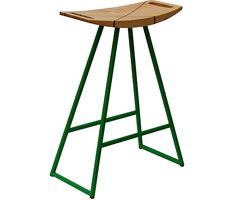 Tronk Design, Roberts Stool (comes in several base options and wood seat options), Available in bar, counter and table height.