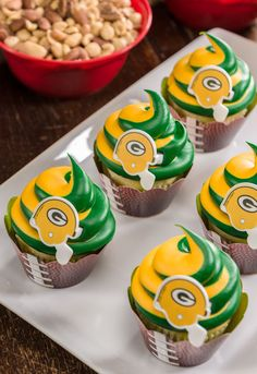 Green Bay Packers Cupcake Rings! #gopackgo