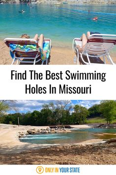 Cool off at the best and most beautiful swimming holes in Missouri this summer. Find river and lake beaches, springs, and more - all perfect for family fun. Best Swimming, Swimming Holes, Best Bucket List, Lake Beach, Hidden Beach, Summer Travel, Natural Wonders, Vacation Spots, Road Trips