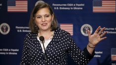 """Assistant Secretary of State Victoria Nuland speaks during a news conference in Kyiv, Ukraine, April She has called on the country's government """"to start locking up people who have ripped off the Ukrainian population for too long. Russia News, Moldova, Ukraine, Victoria, People, April 27, Secretary, Conference, Usa"""