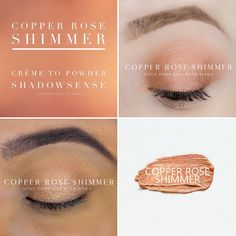 Copper Rose Shimmer  I would love to tell you about the amazing products SeneGence offers. From skin care to LipSense, we have something for everyone. Message me to order or ask me how you can join my team. You can also find me at Facebook.com/KissandMakeupinIndiana.   Independent Distributor #366038 Shadow Sense, Love Lips, Copper Rose, Independent Distributor, Eyeshadow, Make Up, Skin Care, Amazing, Lip Sense