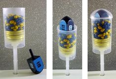 Everybody Wins With Hanukkah Dreidel Push Pops! Great and easy favor for Hanukkah!