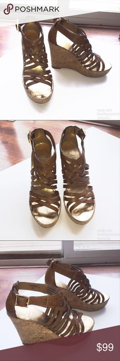 9fc1a4c78e3 Spotted while shopping on Poshmark  Tory Burch Cork Wedge Sandals Size Burch