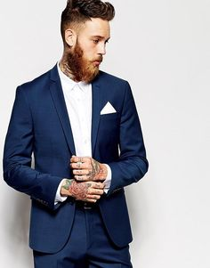 2015 Summer Tuxedos Notched Lapel Mens Suits Blue Mens Wedding Suits Two Button Business Groomsmen Suit Two Piece Suit Jacket+Pants+Tie from Anniesbridal,$98.27 | DHgate.com