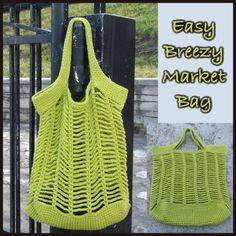 Easy Breezy Market Bag ~ FREE Crochet Pattern