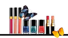 SUMMER 2013 COLLECTIONL'ÉTÉ PAPILLON DE CHANEL The dazzling colours of butterflies inspire a joyful look for face and fingertips with the enchanting Summer collection. Lashes flutter in electric shades of mascara and eyelids are adorned with gleaming colours. Nails and lips complete the effect with shades of sunlit brilliance.