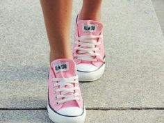 pink converse sneakers Shoes