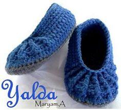 Yalda Slippers By Maryam Ataei - Free Crochet Pattern - (ravelry)
