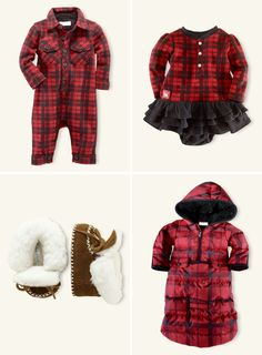 Lumberjack plaid baby outfits, I expect all of your children to be properly dressed Sean Bonnery