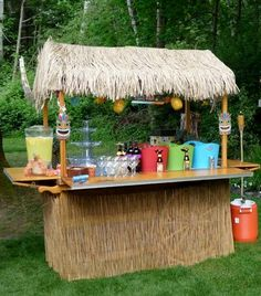 Tiki Bar...I need in my backyard!