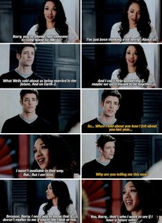 """""""I can't help wondering if... maybe we were meant to be together"""" - Iris and Barry #TheFlash"""
