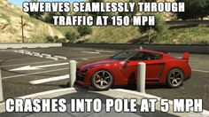 So true! Gta v Video Game Memes, Video Games, Gta Logic, Gta Funny, Fallout New Vegas, Fallout 3, Rockstar Games, Gaming Memes, Gamer Humor