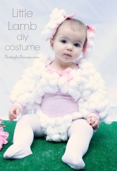 DIY Costume - Little Lamb by PartiesforPennies.com