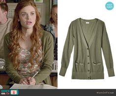 Lydia's green cardigan on Teen Wolf.  Outfit Details: http://wornontv.net/50203/ #TeenWolf