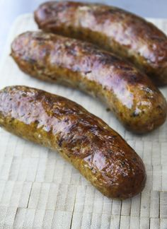 Homemade Hot Italian Sausage Links + recipe for sausage and peppers Homemade Italian Sausage, Homemade Sausage Recipes, Italian Sausage Recipes, Pork Recipes, Cooking Recipes, Bratwurst Recipes, Home Made Sausage, How To Make Sausage, Sausage Making