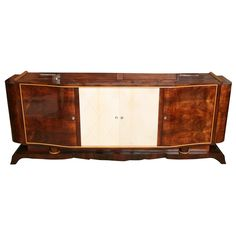 CLASSIC FRENCH ART DECO EXOTIC ROSEWOOD AND PARCHMENT BUFFET | From a unique collection of antique and modern buffets at http://www.1stdibs.com/furniture/storage-case-pieces/buffets/