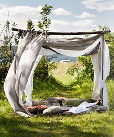 Großartige Outdoor-Idee | Platz zum Träumen und Lesen | repinned by @hosenschnecke♡