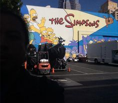 #Thisfunktional #Art: While at the #FOXStudioLot I had to take a photo with #TheSimpsons #Mural. I had many #Sundays which included watching the #Newest #Episode of #TheSimpsonsOnFOX. #ThisfunktionalTV #TV #Television #FOX #FOXTV #LateGram http://ift.tt/1MRTm4L