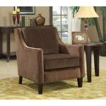 Coaster Furniture - Brown Basket-Weave Microvelvet Accent Chair - 902043   SPECIAL PRICE: $397.57