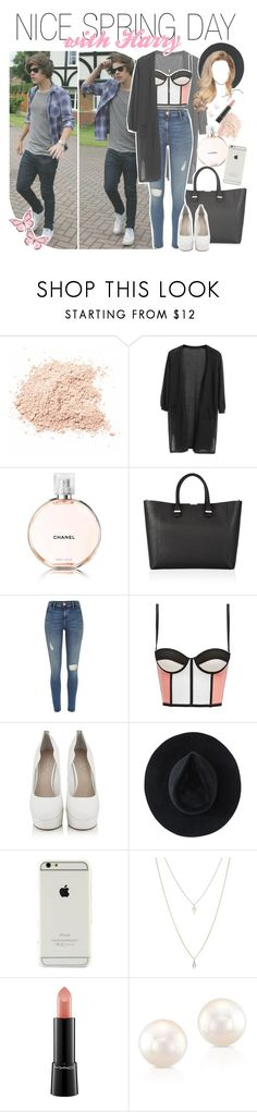 """""""nice spring day with harry"""" by fangirlsets ❤ liked on Polyvore featuring Chicnova Fashion, Victoria Beckham, River Island, Carvela Kurt Geiger, Ryan Roche, ASOS and MAC Cosmetics"""
