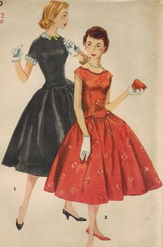1950s Simplicity 1396 UNCUT Vintage Sewing by midvalecottage, $16.00