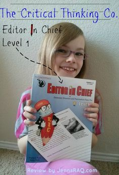 """""""It has worked well because it is fun, but still helps her to practice technical skills that help her with her own writing."""" Editor in Chief Level 1 #hsreviews #criticalthinking #homeschool"""