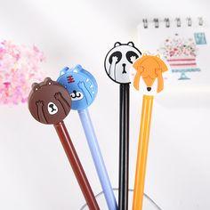 Creative Cute Kawaii Animal Roller Ball Pen Gift for Children Signature Ballpoint Pen Set Stationery Gel Pen School Suppliers #Affiliate