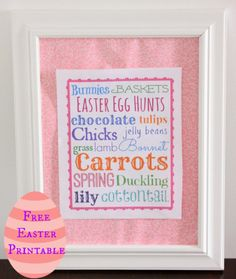 Our Pinteresting Family: Free Easter Subway Art Printable