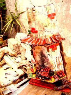 Teja decorada,Parrilla tradicional.