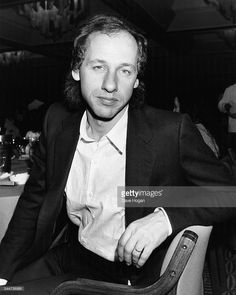 Portrait of musician Mark Knopfler, lead singer with 'Dire Straits', attending a charity luncheon to support music therapy, at the London Intercontinental Hotel, June 28th 1985.