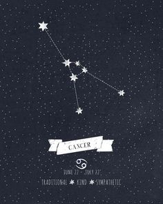 Cancer Constellation Print Art Print