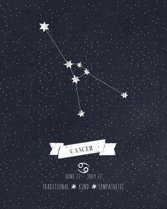Cancer Constellation Print Art Print